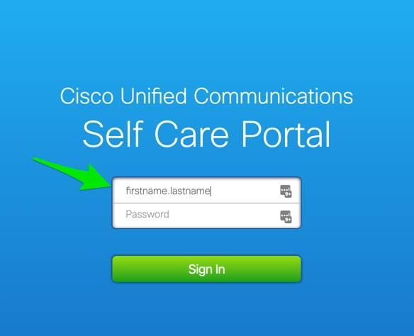 Cisco Unified Communications Login