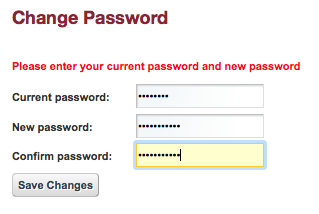 Save new password.